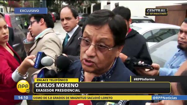 Carlos Moreno dijo que lo realizado por él fue gestión, no corrupción.