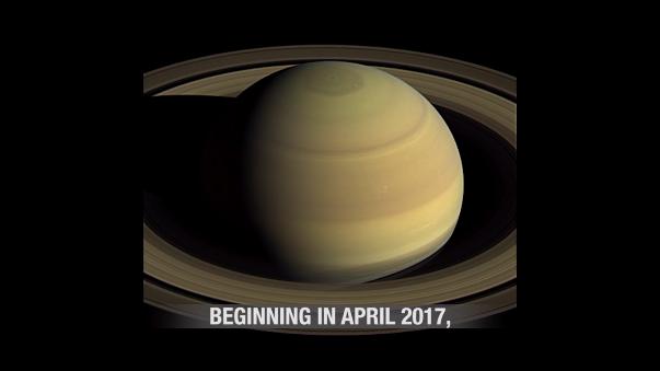 Cuatro días en Saturno captados por Cassini.