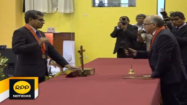 Carlos Salazar Idrogo cometió un lapsus durante ceremonia pública de juramentación de año judicial en el Santa.
