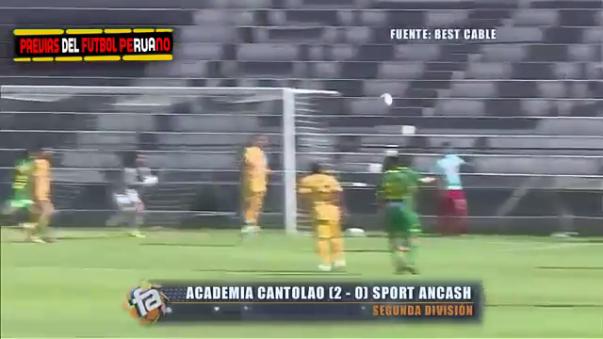 El Estadio de Matute fue escenario del triunfo 2-0 de Cantolao con tantos de Collazos y Manzaneda.
