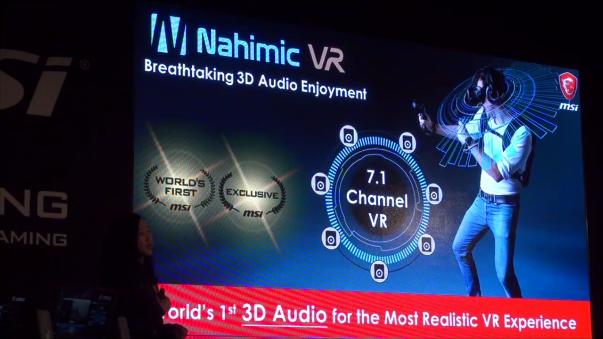 Nahimic VR brinda un sonido 7.1 a la realidad virtual.
