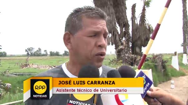 José Carranza habló para los medios deportivos.