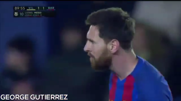 Barcelona empató 1-1 contra el Villarreal en el Estadio de la Cerámica.