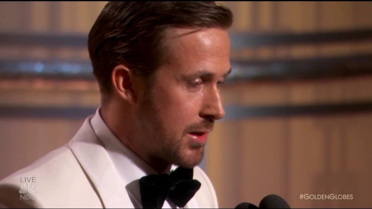 Ryan Gosling ganó el premio a Mejor Actor de Comedia.