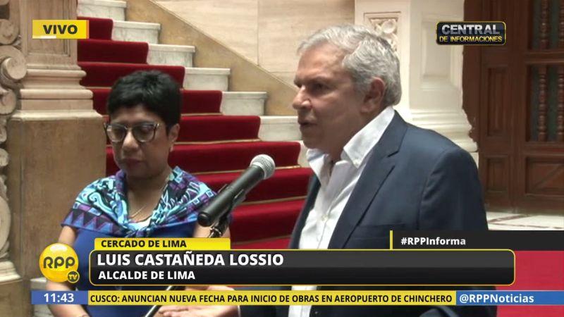 Luis Castañeda convocó a los periodistas a una conferencia de prensa para referirse al polémico segundo peaje en Puente Piedra.