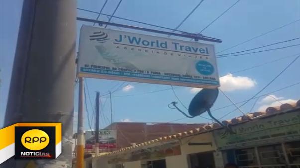 Los familiares de los jóvenes llegaron hasta la agencia de viajes en Piura, pero encontraron las puertas cerradas.