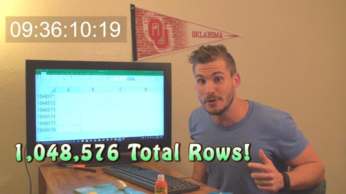 Después de nueve horas, este youtuber descubre cuántas celdas tiene Excel.