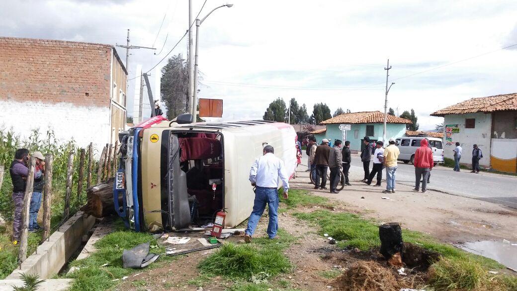 El accidente ocurrió a la altura del km 85 de la Carretera Central.