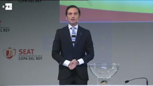 El evento del sorteo de la Copa del Rey fue realizado por la Real Federación Española de Fútbol.