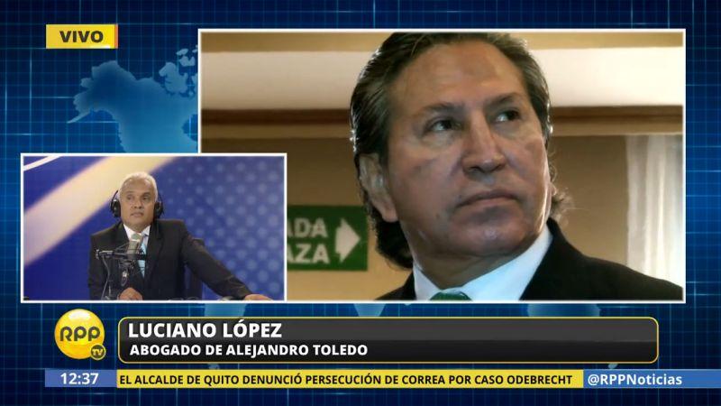 El expresidente Alejandro Toledo brindará una charla en Stanford la próxima semana, informó su abogado.