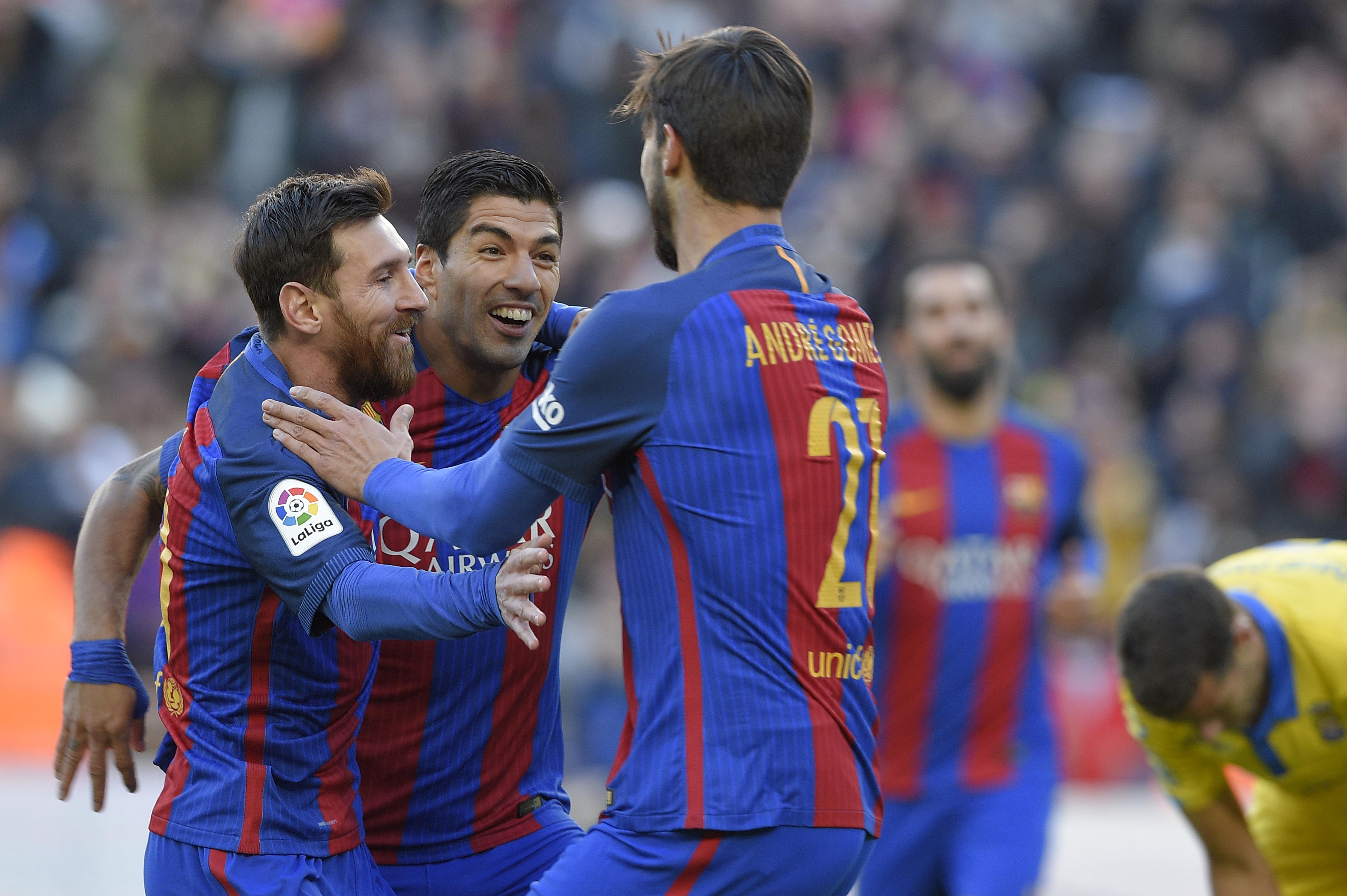 Los goles fueron de Luis Suárez (14') y (57'), Lionel Messi (52'), Arda Turan (58') y Aleix Vidal (80').