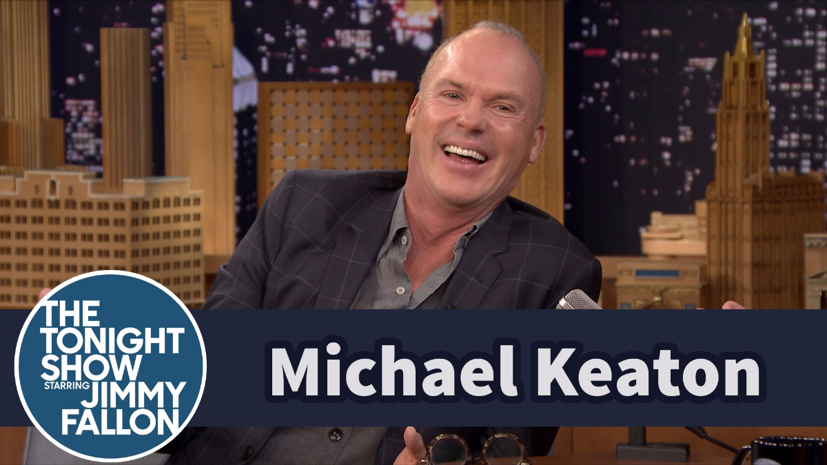 Michael Keaton habló con Jimmy Fallon sobre su nuevo papel.