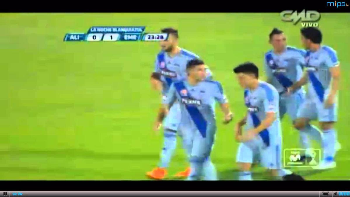 Emanuel Herrera ya sabe anotarle a clubes peruanos. Aquí el gol que le hizo a Alianza Lima en la 'Noche Blanquiazul' de 2016.