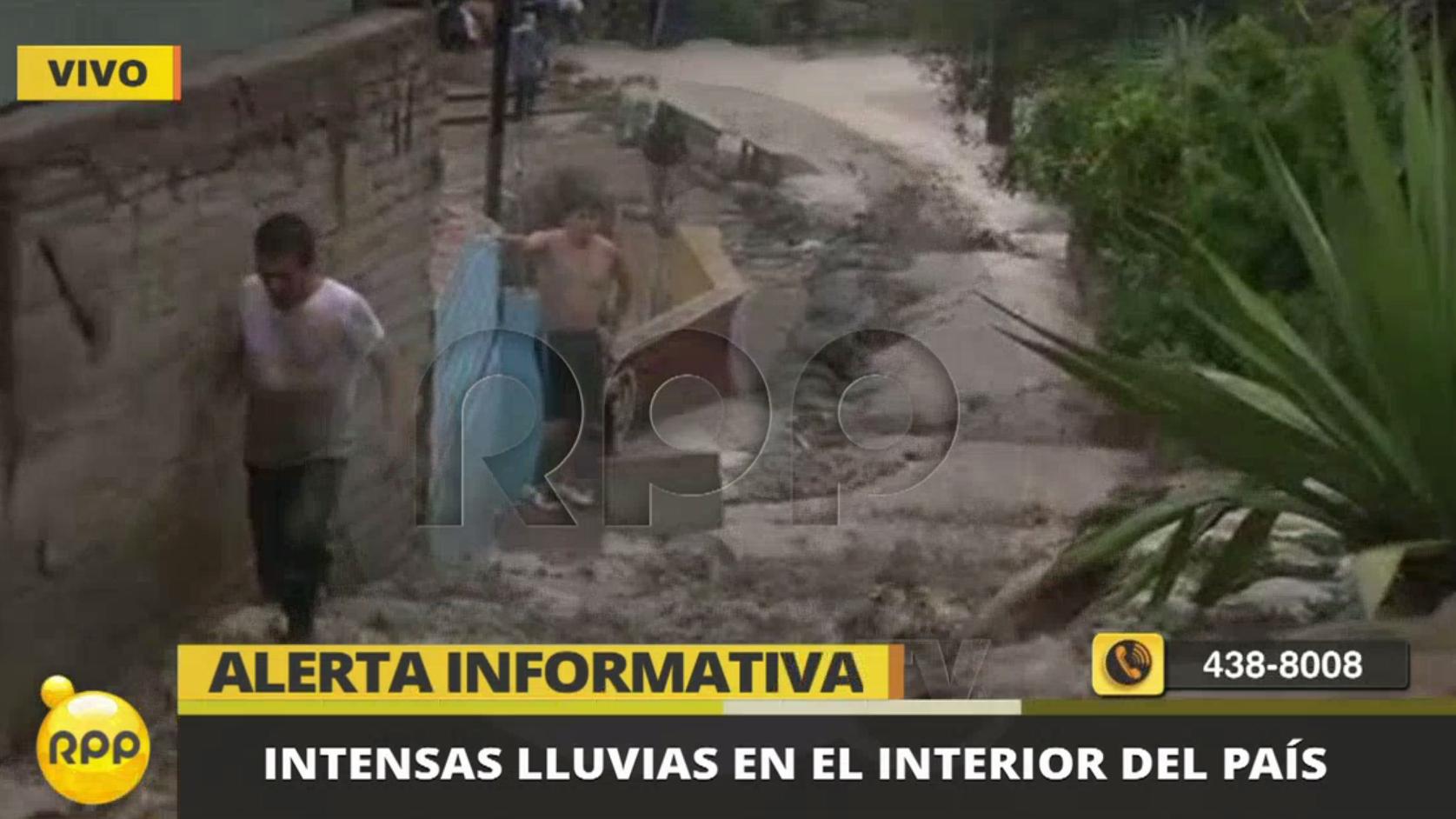 Defensa Civil reportó que se han detectado 10 quebradas activadas por las lluvias en Santa Eulalia.