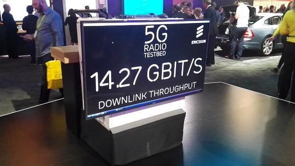 Ericsson mostró su red 5G en CES 2017.