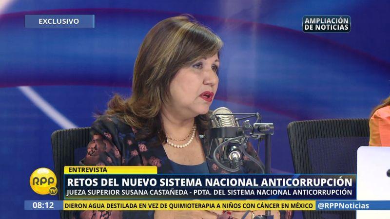 Susana Castañeda destacó una capacitación que tuvo en Estados Unidos sobre lavado de activos y corrupción de funcionarios.