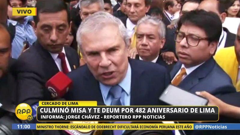 Luis Castañeda pidió a los limeños que le otorguen su confianza para seguir trabajando por el bien del Perú.