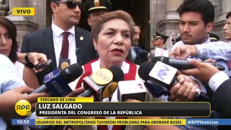 Luz Salgado se mostró de acuerdo con las restricciones de salida del país impuestas a Nadine Heredia.