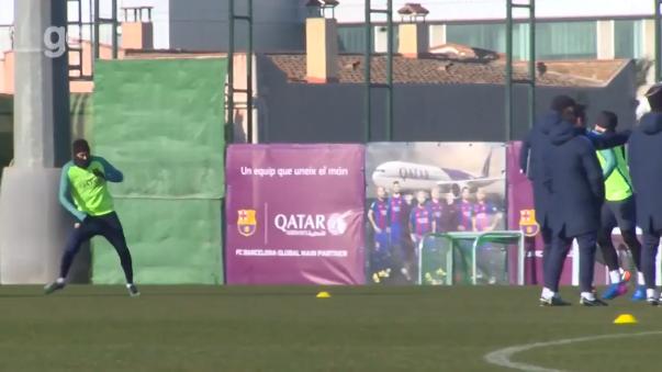 El Barcelona de España se alista para el partido de este jueves ante la Real Sociedad por la Copa del Rey.