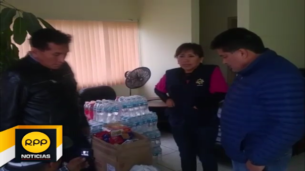 Ayuda consistente en alimentos no perecibles y agua, fueron enviados para equipo de rescate.
