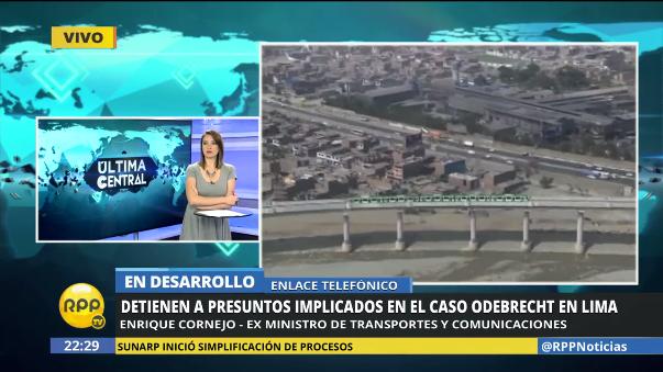 El exministro Enrique Cornejo se refirió a la búsqueda del ex viceministro Jorge Cuba.