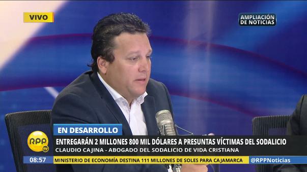 El abogado del Sodalicio explicó la decisión de la institución de darle una reparación de casi 3 millones a las víctimas.