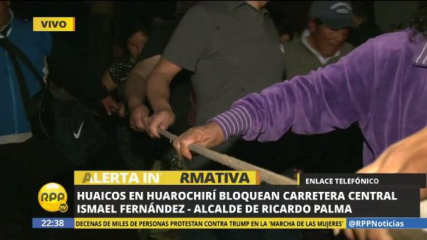 La ayuda ha comenzado a llegar a la zona de la emergencia en Huarochirí, según el alcalde Ismael Fernández.