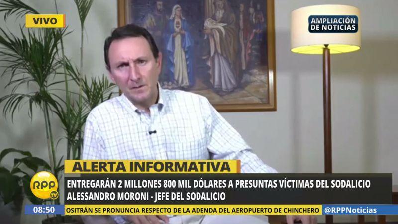 """Alessandro Moroni aseguró que el Sodalicio encontró """"elementos suficientes"""" para considerar a 66 personas como víctimas de abuso o maltrato de distinta índole."""