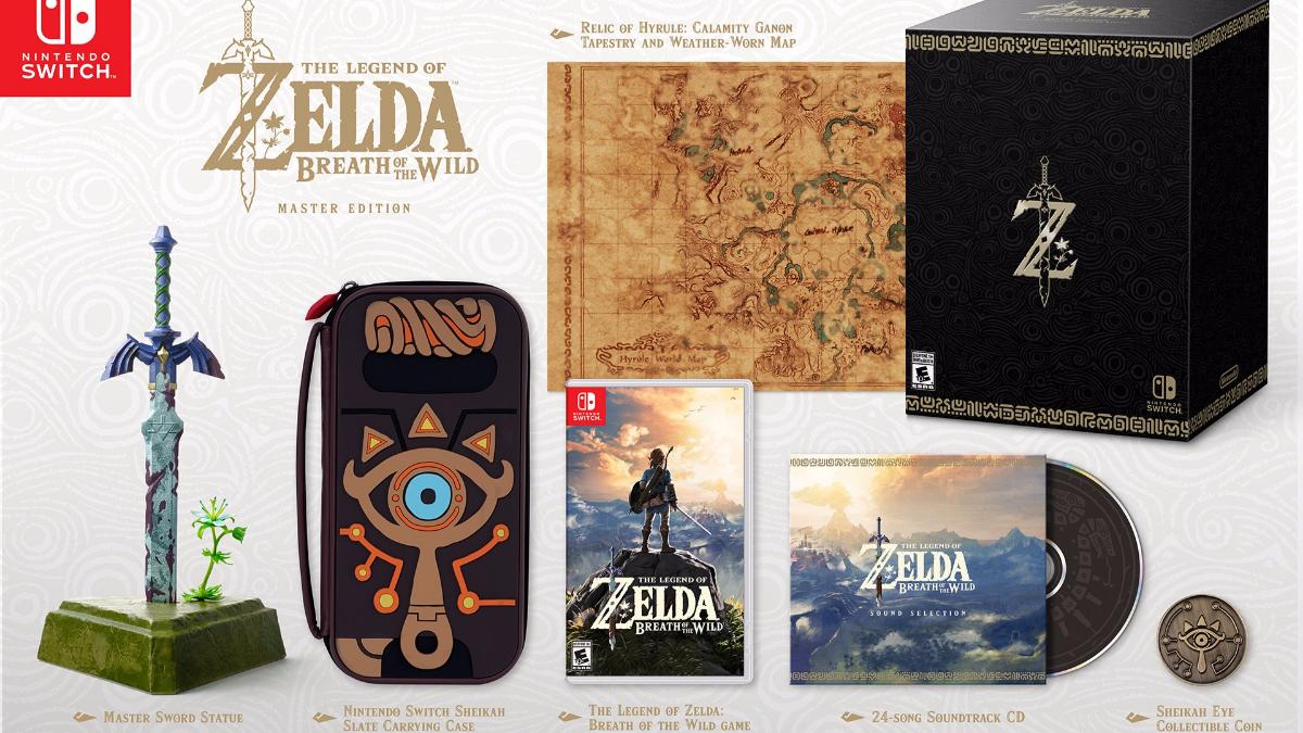 The Legend of Zelda: Breath of the Wild estará disponible en edición de colección Master Edition.