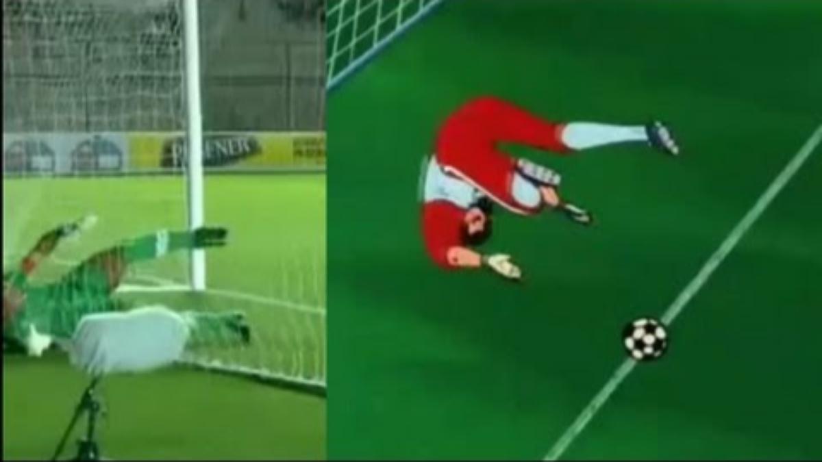 Angelo Campos evitó el gol a la Selección Peruana con una increíble atajada vista en un capítulo de los Supercampeones.