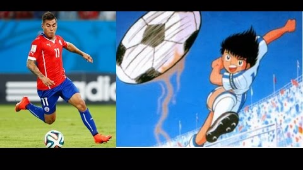 Eduardo Vargas anotó un golazo en la Copa América ante Perú y su disparo fue muy parecido al tiro del chanfle que hacía Oliver Atom.