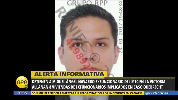Miguel Navarro fue detenido la noche de este martes en La Victoria.