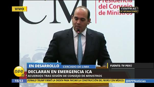 Fernando Zavala anunció los acuerdos del Gabinete en la Presidencia del Consejo de Ministros.
