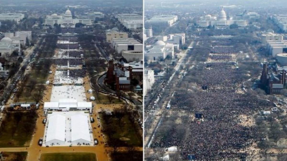 Sean Spicer, portavoz del gobierno de Trump, dijo que la audiencia de la inauguración de Trump fue