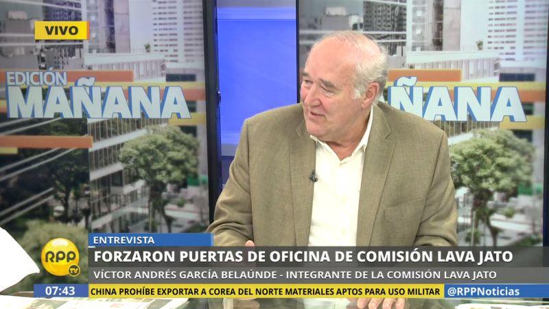 Víctor Andrés García Belaunde consideró que la Comisión Lava Jato debería citar de grado o fuerza a Mauricio Cruz.