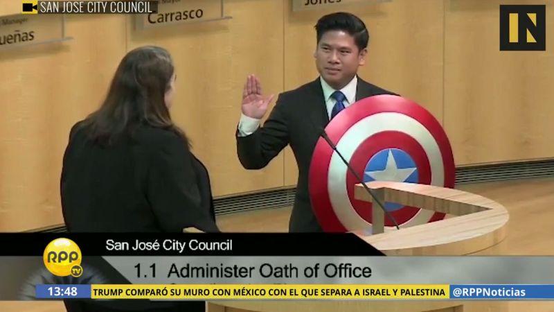 Pese a portar el escudo, Lan Diep se tomó muy en serio su juramentación.