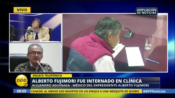 El doctor de Fujimori informó sobre su estado de salud.