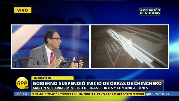 Vizcarra dijo que el Gobierno ha suspendido el inicio de obras para encontrar la mejor opción.