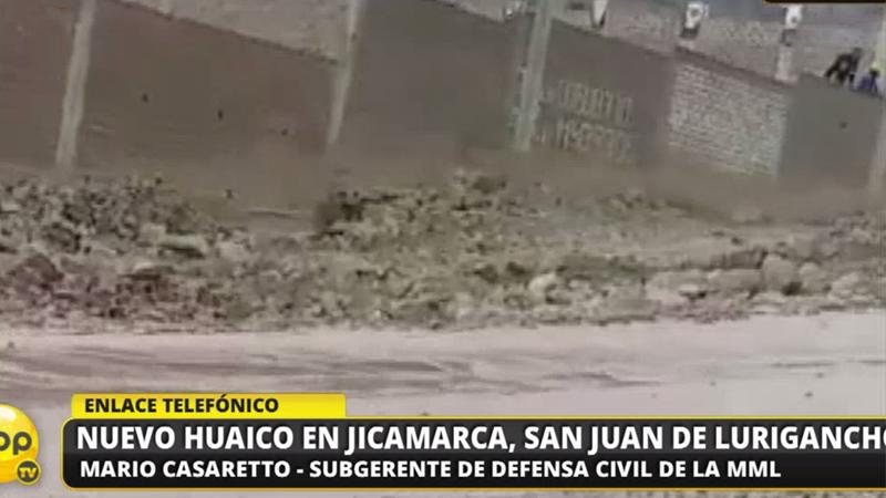 Un nuevo huaico en San Juan de Lurigancho.