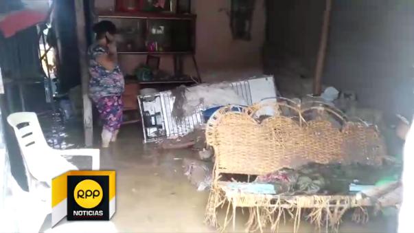 Casas inundadas en Chiclayo.