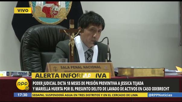 Dictan 18 meses de prisión preventiva para Jessica Tejada y Mariella Huerta.