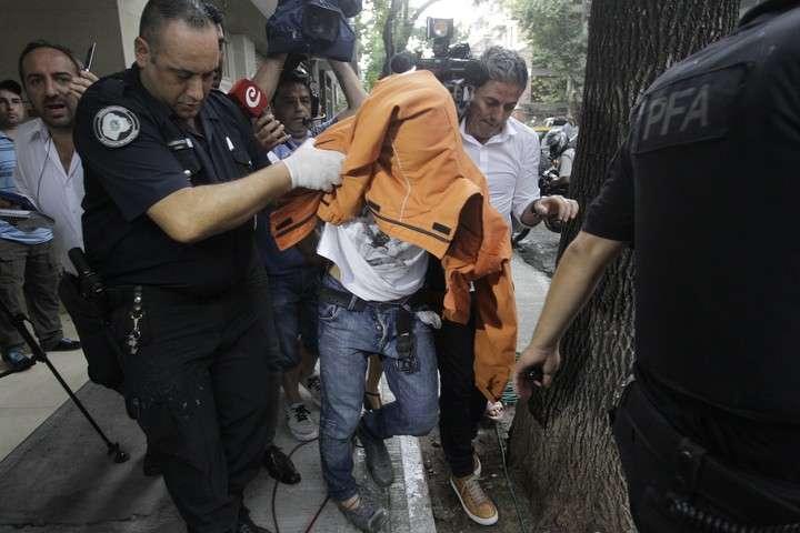 Gerardo Billiris en el momento en que quedó detenido.