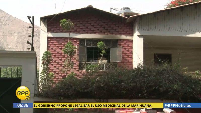 El incendio ocurrió en el centro de rehabilitación 'Fuente de Agua Viva', en Chaclacayo.