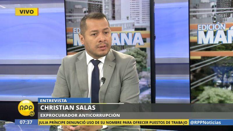 El exprocurador Christian Salas consideró que lo más probable es que el juez dicte la prisión preventiva contra Toledo.