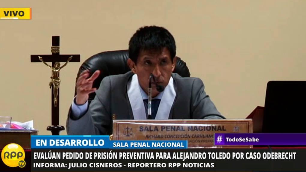 El Juez Richard Concepción sustento su fallo durante más de dos horas.