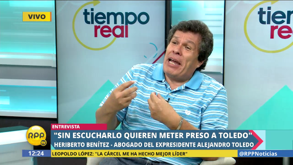 Heriberto Benítez dijo que no puede revelar el paradero de Toledo porque eso