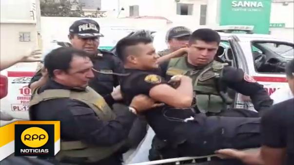 Los agentes Huber Vallejos Requejo y Alan García Ramos, recibieron disparos por parte de sujetos que se encontraban al interior de la azucarera