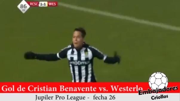 Cristian Benavente marcó el 2-1 final ante el Westerlo.