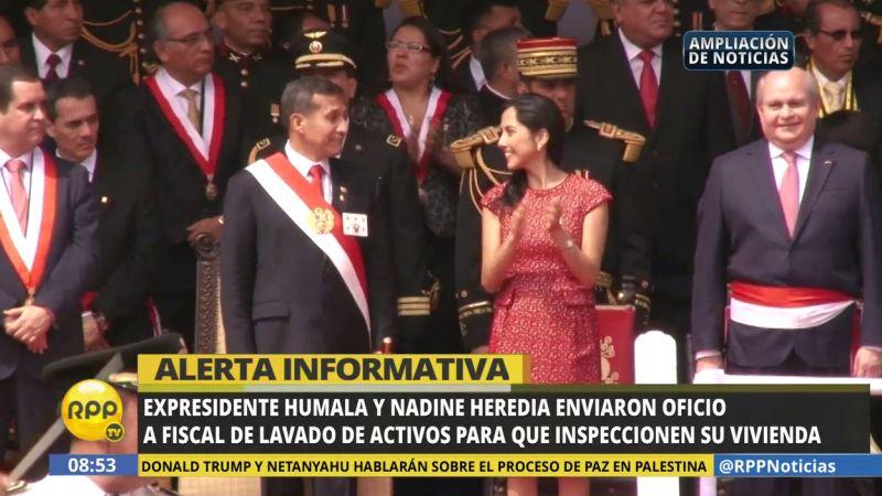 Ollanta Humala y Nadine Heredia enviaron la carta ayer, 14 de febrero.