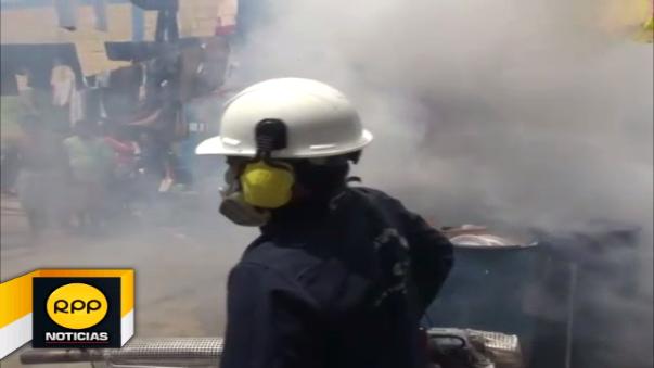 Fumigación en algunos pabellones del penal de Chiclayo